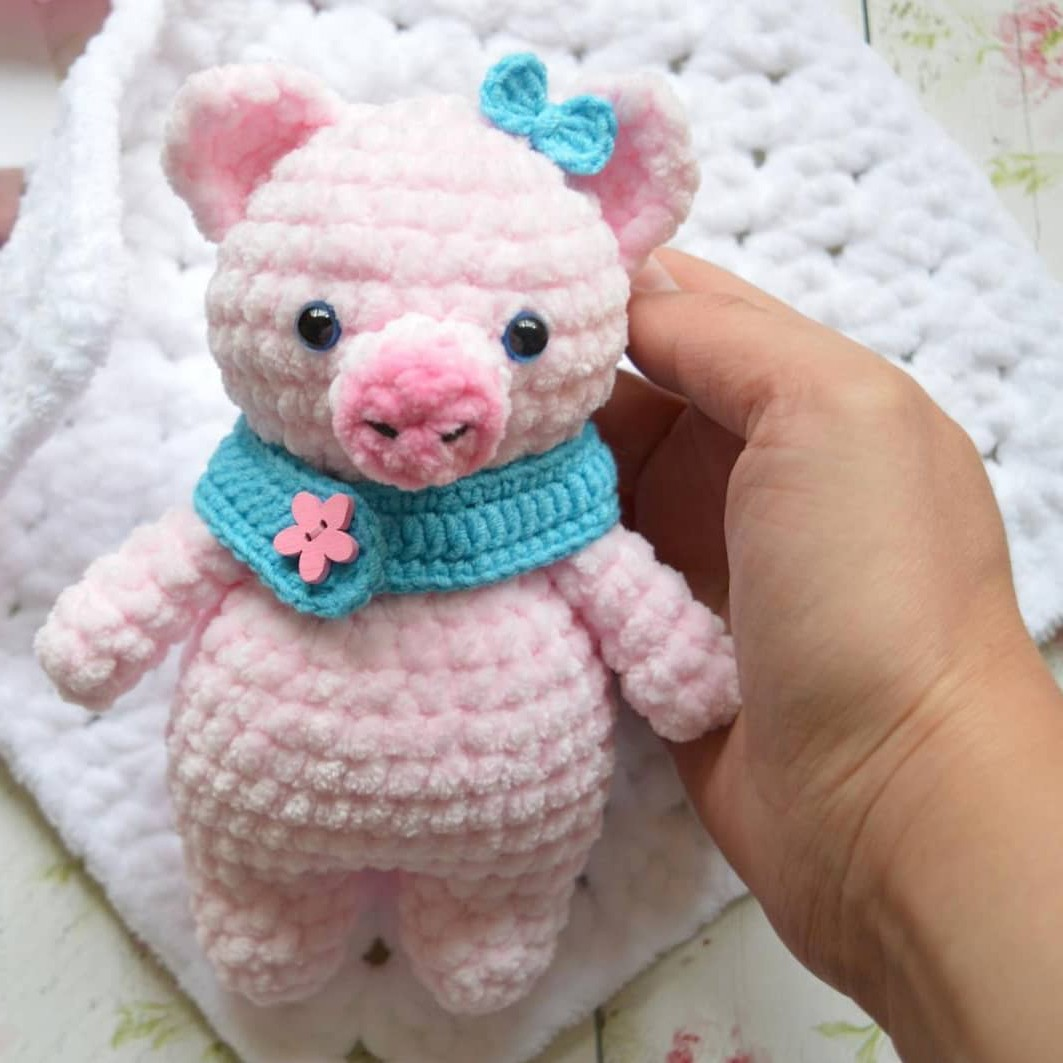 Свинка амигуруми схема