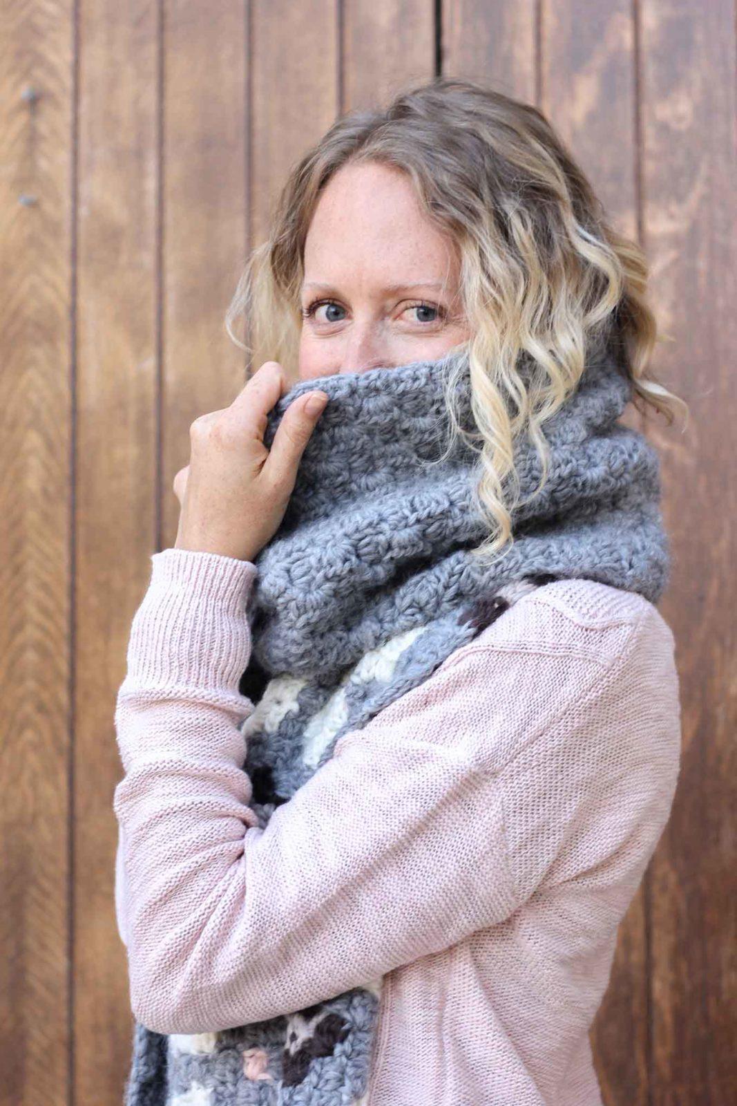 шарф 2с2 крючком