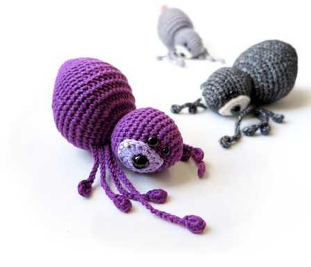 Схема вязания паука амигуруми