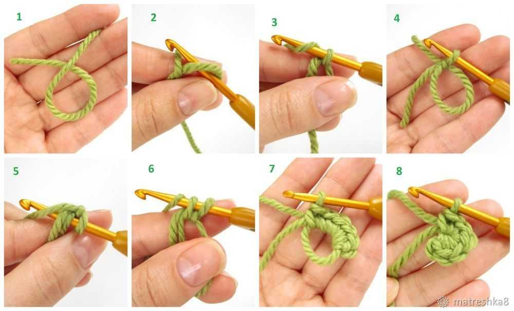 кольцо амигуруми крючком для начинающих