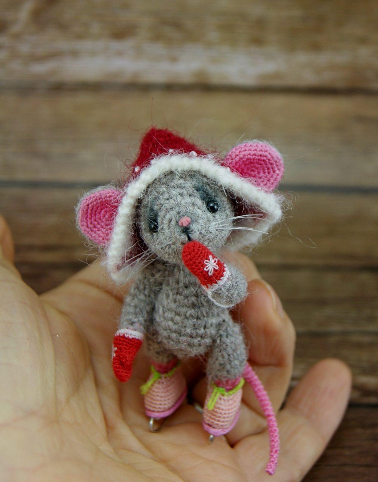 амигуруми мышонок