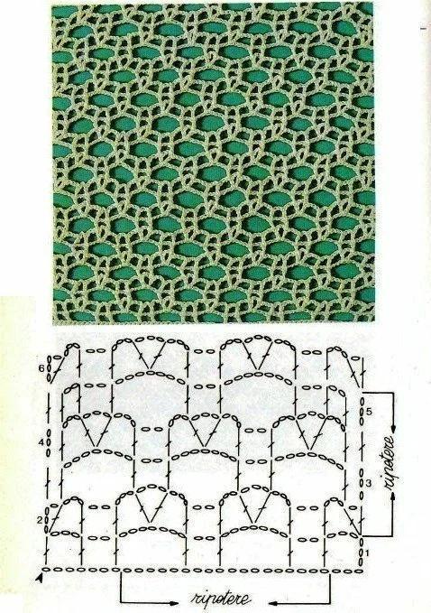 Квадратная салфетка крючком схема