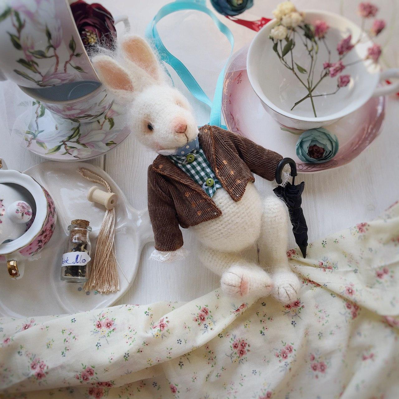 кролик крючком схема