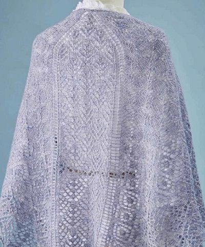 Ажурная шаль «Phossili Bay» спицами